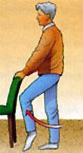 Sollevamenti del ginocchio da in piedi
