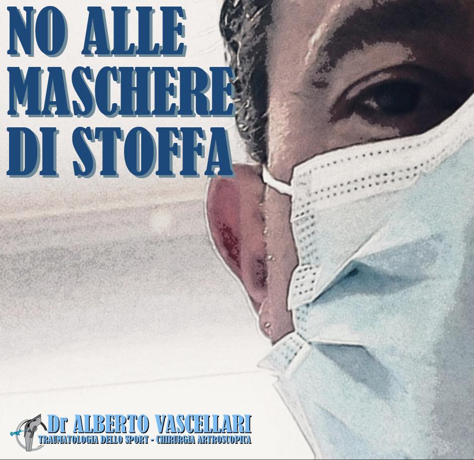 No all'utilizzo delle mascherine di stoffa tra gli operatori sanitari