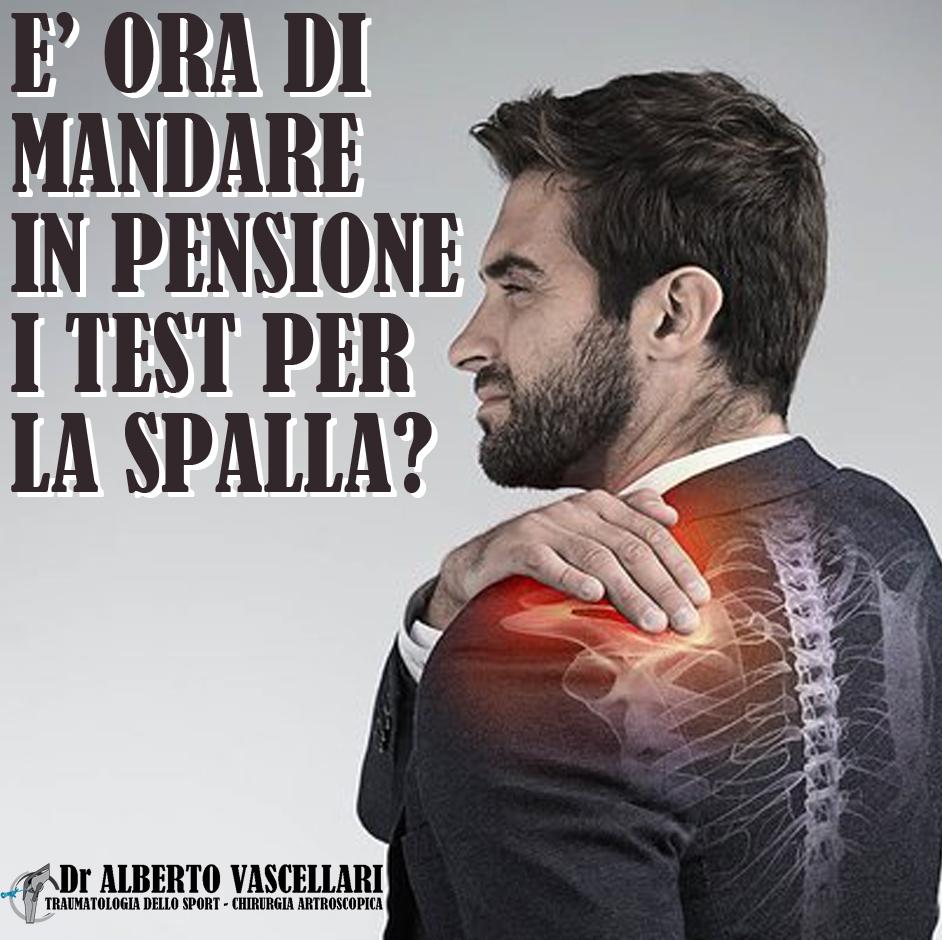 """È ora di mandare in pensione i """"test speciali"""" per il dolore alla spalla associato alla cuffia dei rotatori"""